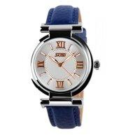 Đồng hồ nữ dây da Skmei SK016 (Xanh)