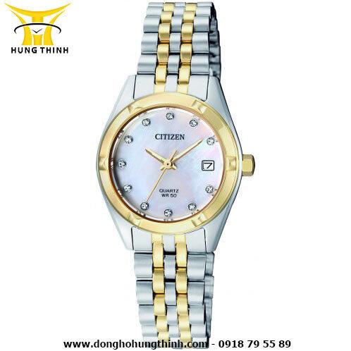 Đồng hồ nữ dây kim loại Citizen EU6054