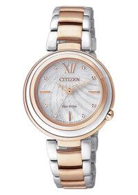 Đồng hồ nữ dây thép không gỉ Citizen Eco-Drive EM0335-51D