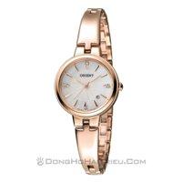Đồng hồ nữ dây thép không gỉ Orient Quartz FSZ40001W0