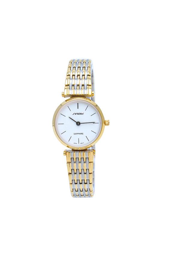 Đồng hồ nữ dây thép kính sapphire Sinobi SI026