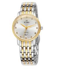 Đồng hồ nữ Eyki EY030 sapphire Sang Trọng (vàng)
