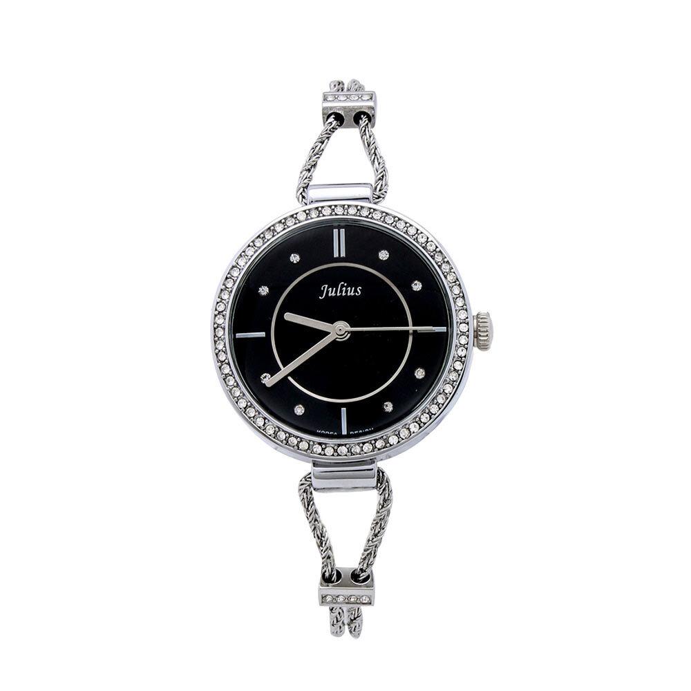 Đồng hồ nữ Julius Hàn Quốc đính đá-JU984
