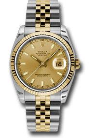 Đồng hồ Rolex Datejust Champagne Index Dial Jubilee Bracelet Two Tone Men's Watch 116233-0151, 36mm