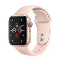 Đồng hồ thông minh Apple Watch Series 5 LTE  - 44mm, viền thép dây cao su