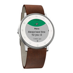 Đồng hồ thông minh Pebble Time Round Đen (Dây da 20mm)