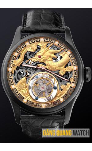 Đồng hồ Tourbillon rồng vàng Black