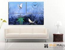 Đồng hồ trang trí tường Cánh chim câu Suemall NT140402