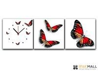 Đồng hồ tranh con bướm xinh DV150202