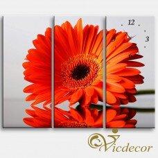 Đồng hồ tranh Hoa cúc huyền ảo Vicdecor DHT0051