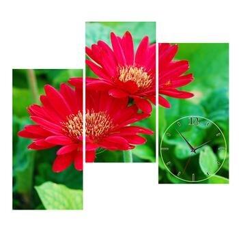 Đồng hồ tranh-Hoa cúc đỏ-DHT0203