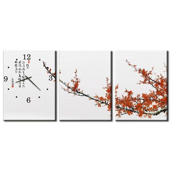 Đồng hồ tranh-Hoa đào ngày tết-DHT0023
