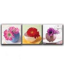Đồng hồ tranh hoa trên bát Dyvina 3T3030-1