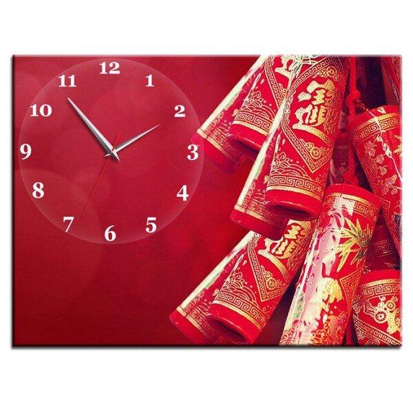 Đồng hồ tranh Pháo hoa ngày tết Vicdecor DHT0254