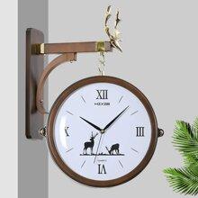 Đồng hồ treo tường 2 mặt HM686 - Hoa tuần lộc