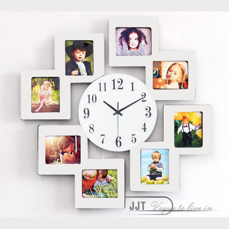 Đồng hồ treo tường kèm khung ảnh gia đình vô cùng đẹp JT8011