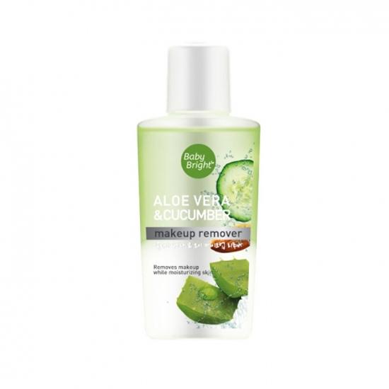 Dung dịch tẩy trang lô hội và dưa leo Baby Bright Aloe Vera & Cucumber Makeup Remover 55ml
