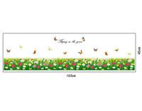 Decal trang trí chân tường hoa cúc đủ màu DC467