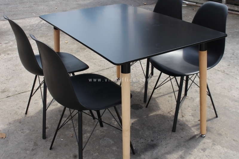 Bộ bàn ăn màu đen BGN38