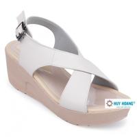 Giày nữ Huy Hoàng đế xuồng màu trắng HH7040