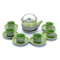 Bộ trà Nhật Rạn Gốm Sứ Bát Tràng T590