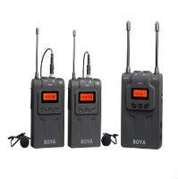 Mic không dây thu âm phỏng vấn cho máy ảnh máy quay Boya BY-WM8 UHF