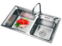 Chậu rửa Inox cao cấp đôi Kangaroo KG8345