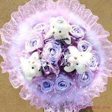 Gấu bông - Hoa gấu bông tình yêu màu tím