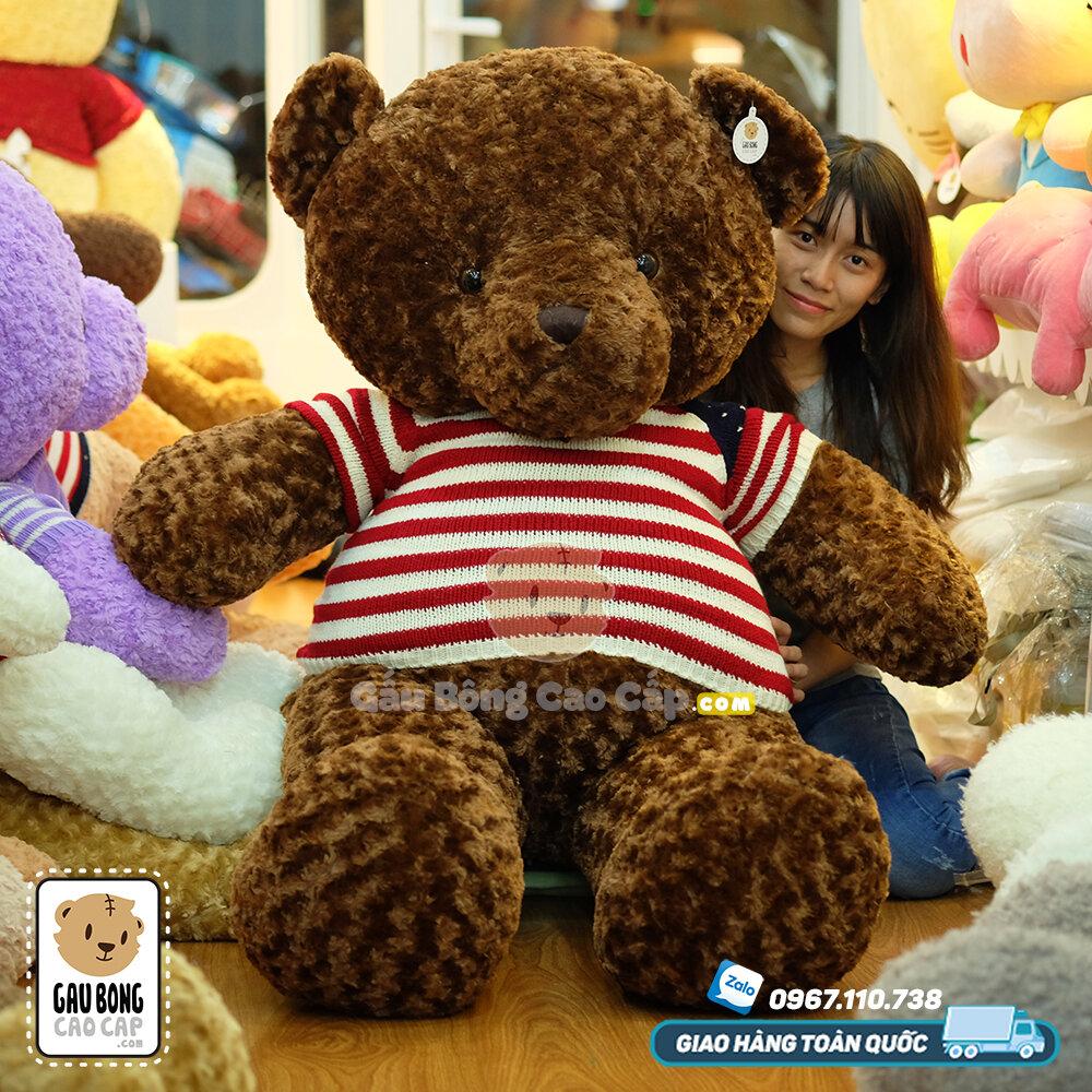 Gấu bông teddy áo len cờ Mỹ - 70cm