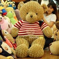 Gấu bông teddy áo len cờ Mỹ - 1m