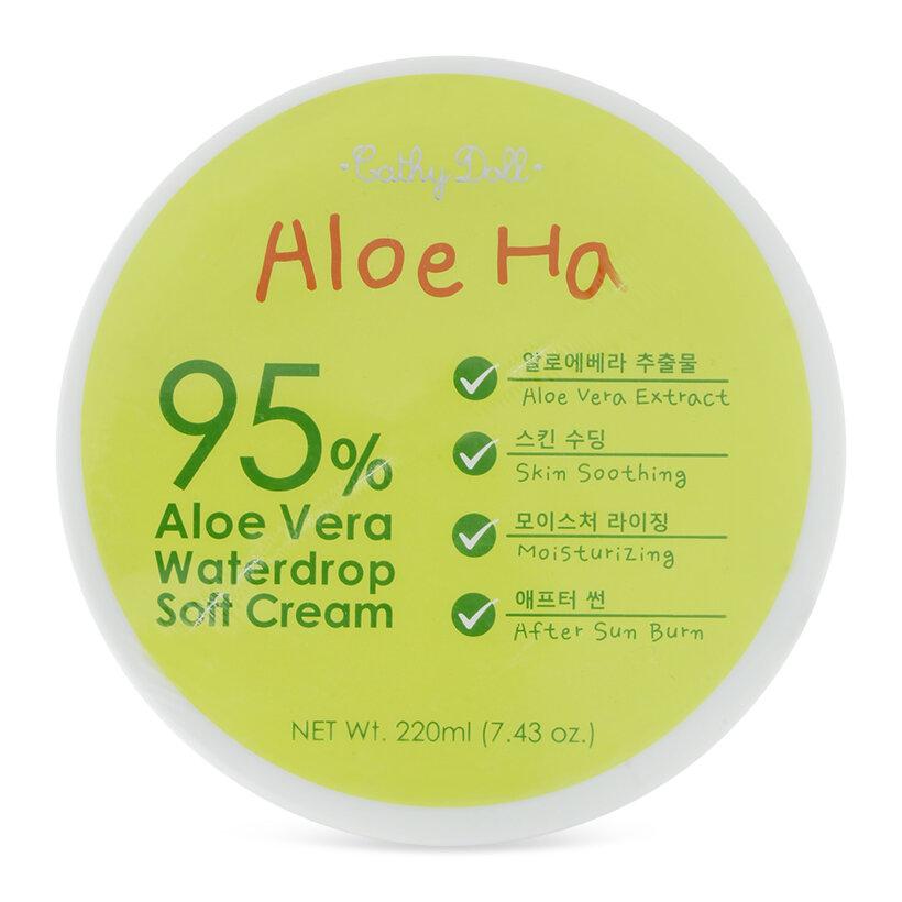 Gel dưỡng da body Cathy Doll Aloe Ha Vera Waterdrop Soft Cream 220ml