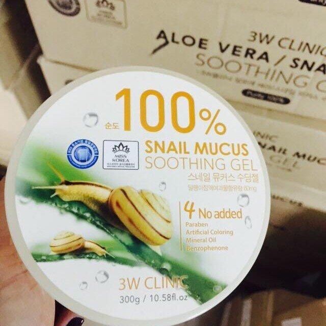 Gel dưỡng da ốc sên 3W Clinic Snail Mucus Soothing Gel 300g