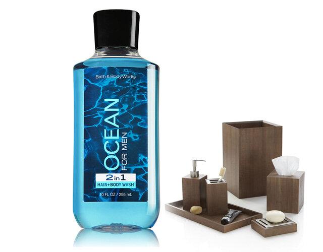 Gel tắm Bath & Body Works-Ocean 2-in-1 Hair + Body Wash