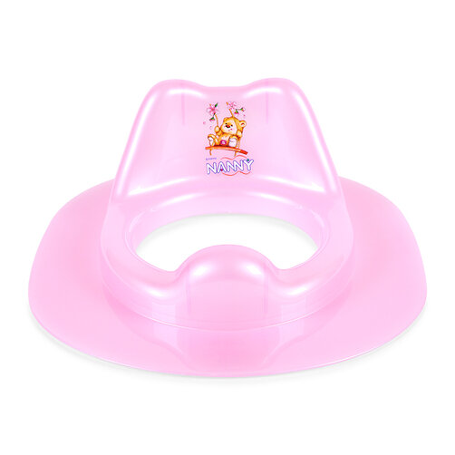 Ghế lót ngồi toilet cho bé Nanny N287 - màu xanh/ hồng
