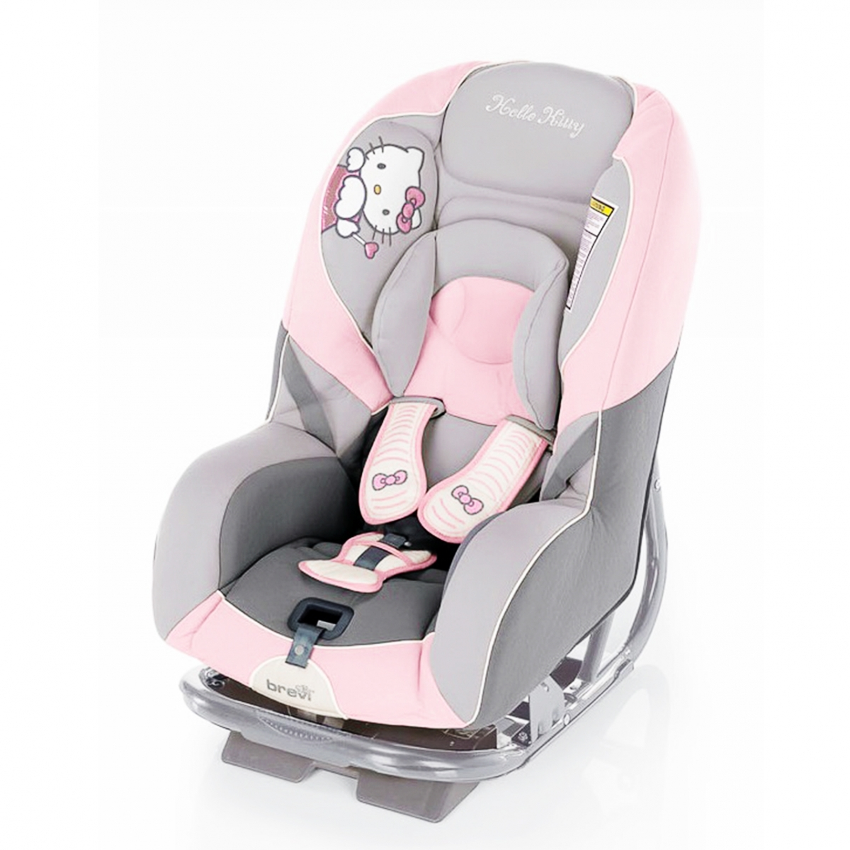 Ghế ngồi ô tô cho bé Brevi Grandprix Silverline Hello Kitty BRE515 – màu 022HK/ 260