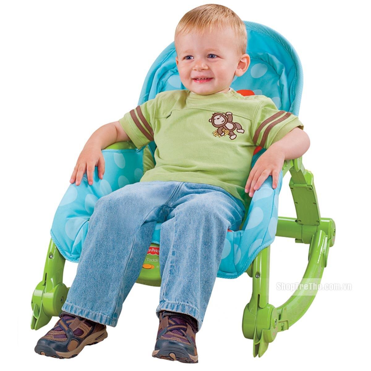 Ghế rung Fisher Price W2811 (cho bé nằm ăn, nằm ngủ)