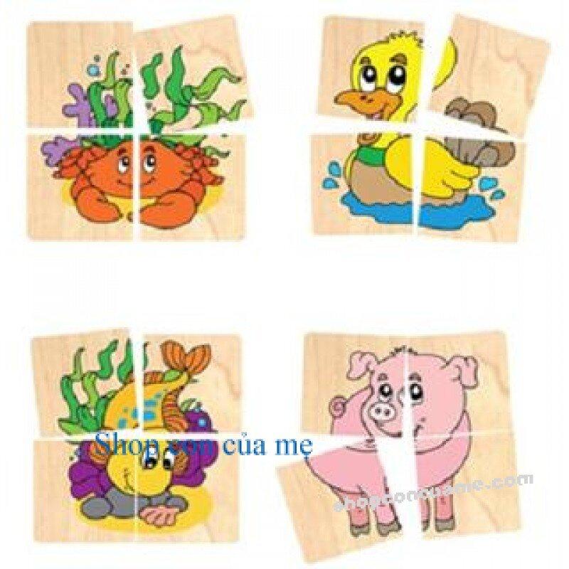 Ghép hình 10 con vật Winwintoys 64392