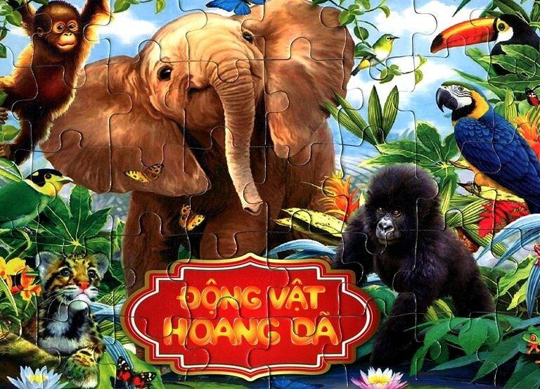 Ghép hình trí tuệ - động vật hoang dã (khỉ)