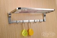 Giá để đồ kết hợp treo khăn inox Zento HA4646