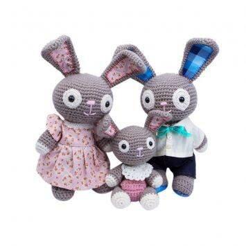 Gia đình nhà thỏ Bobi Craft 105 XL - 39cm