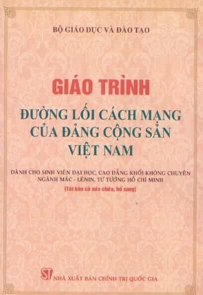 Giáo trình đường lối cách mạng của đảng cộng sản Việt Nam