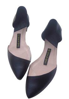Giày bệt nhựa Dolly&Polly màu đen PNT01