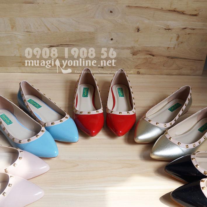 Giày búp bê đính đinh Vanessa 0624