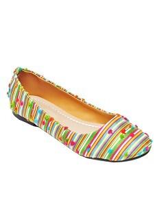 Giày Búp Bê Họa Tiết Sọc Me Girl 92048