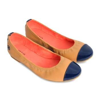 Giày búp bê nữ Gosto mũi màu xanh đen-GFW005300DBL