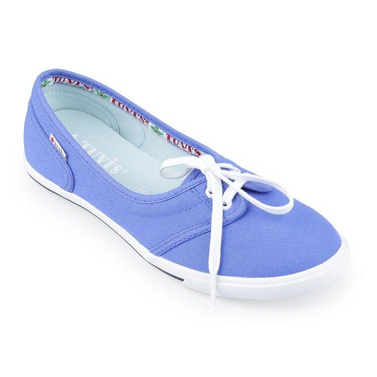 Giày búp bê nữ xuất khẩu siêu êm màu xanh TVB09