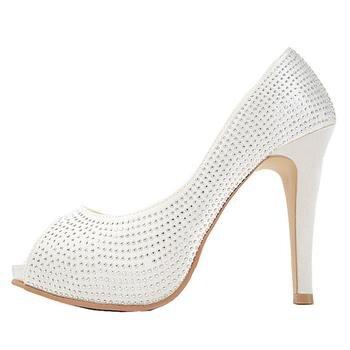 Giày cao gót 11 cm, hở mũi