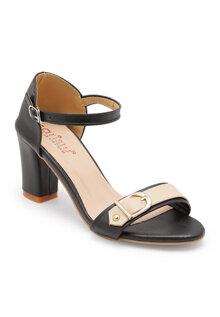 Giày cao gót quai ngang khóa Sarisiu XCL721