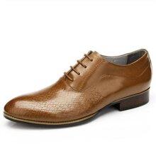 Giày da họa tiết hình nan Olunpo QABA1226
