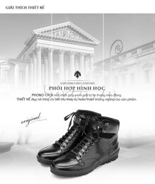 Giày da nam Olunpo DHT1443 - cao cổ